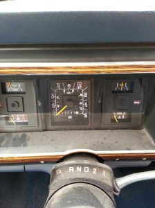 1989 Ford Club Wagon XL instrument panel