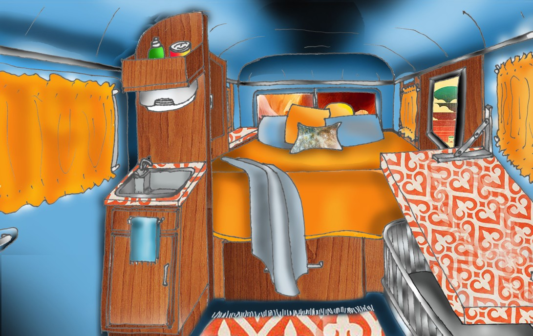 Colo9r Perspective Inside Van